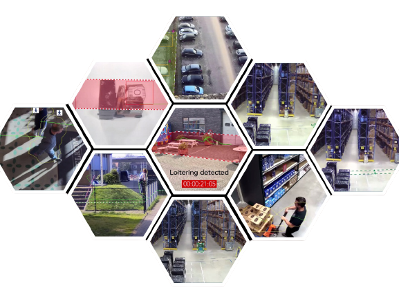 collage of video analytics applications