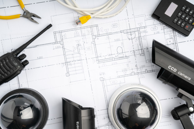 cctv security online camera with house plan - 1